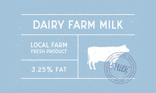 Dairy Farm Milk Vintage Label....