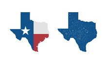 Texas Flag Map Icon And Texas ...