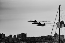 Grayscale Shot Of Fighter Jets...