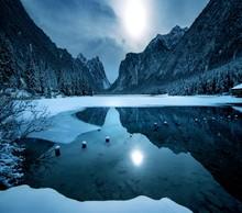 Snowy Mountains At Dolomiten R...