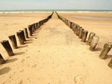 Landscape Shot Of A Sandy Beac...