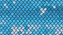 Abstract Gradient Blue Rectangle Background; Geometric Pattern Structure 3d Rendering