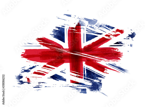 Photo Grunge flag of the United Kingdom