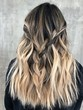 Leinwandbild Motiv Blonde Balayage Hair on Dark Hair