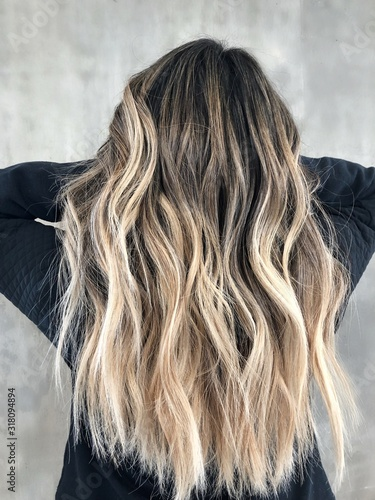 Photo Balayage on Dark Hair