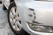 Scratch On Car Bumper Due To Minor Accident