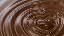 液体のチョコレートに...