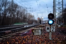 Railway Signal During Autumn