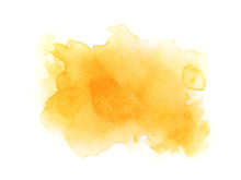 Yellow Watercolor Background. ...