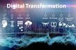 Leinwanddruck Bild - Digital transformation concept - 3d rendering