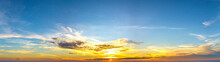 Panorama Sunset With Clouds, I...