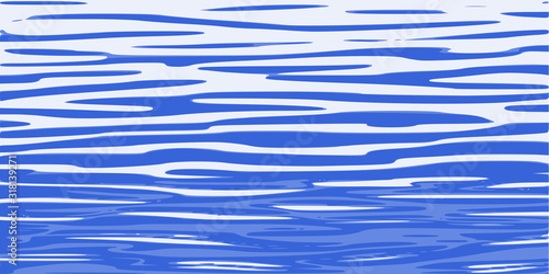 Ripples and water waves, sea surface. Vector natural background. Canvas-taulu