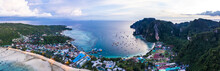 Panoramic View Of Coastline And Sea