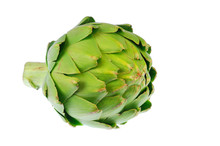 Close Up On Artichoke Isolated...