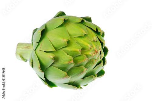 Photo close up on artichoke isolated on white background