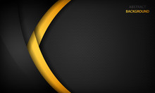 Black And Yellow Overlap Backg...