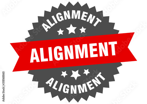 alignment sign Canvas Print