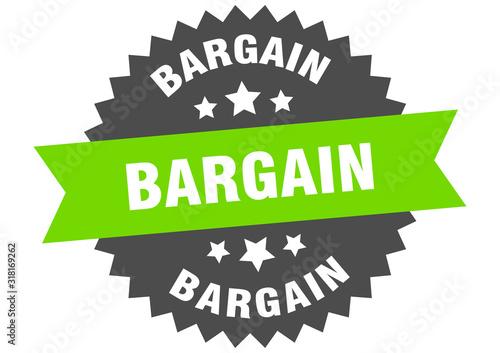 bargain sign. bargain circular band label. round bargain sticker Wallpaper Mural