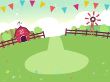 Party Farm Theme Buntings Back...