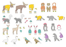 Illustration Animals Party Modern Pot Bicycle Leaf Flower Plant Balloon Coon Moose Bear Social Media