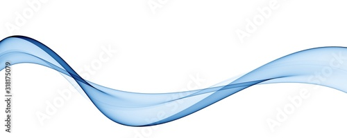 Obraz Color light blue abstract waves design - fototapety do salonu