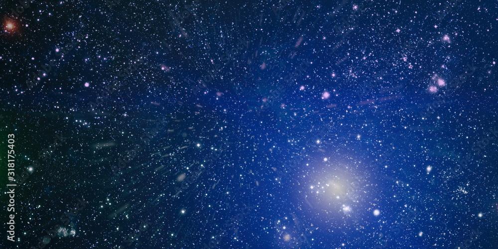 Fototapeta Black space with a lot of stars on background - obraz na płótnie