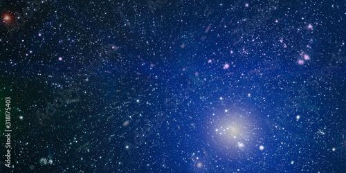 Fototapeta Black space with a lot of stars on background obraz na płótnie
