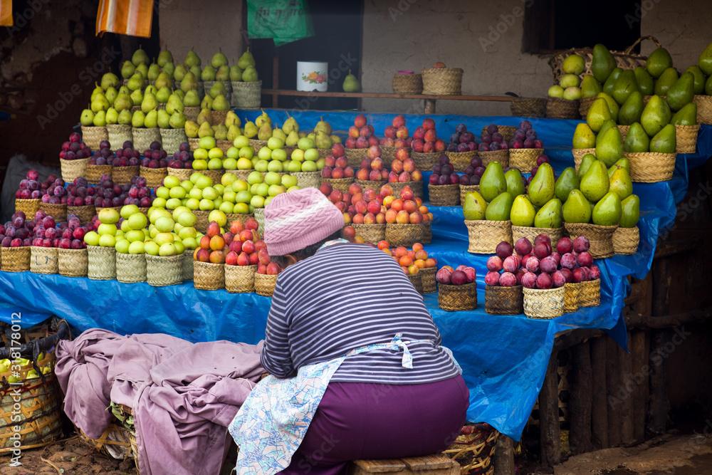 Fototapeta fruit and vegetable at Madagascar