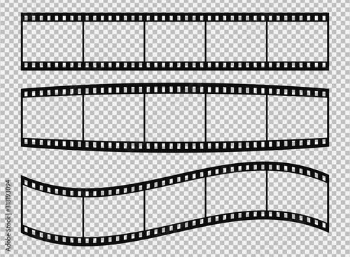 Set of classical 35 mm film strip. #318193094