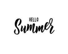 Hello Summer Hand Lettering Te...