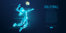 Abstract Silhouette Of Volleyb...