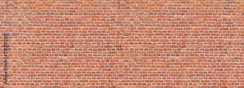 Fototapeta cegła  brick-wall-old-vintage-brick-wall-pattern-red-brick-wall-panoramic-background