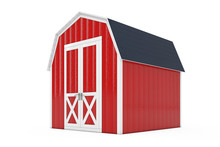 Red Wood Small House Cabin Sto...