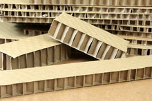 Honeycomb Paper Board Used For Cargo Bracing. Corrugated Box Sheet. Cardboard Packaging, Cardboard Insulation Material