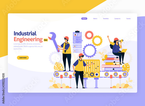 Photo Vector illustration for industrial and machinery engineering