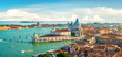 canvas print picture - Panoramic aerial view of Venice