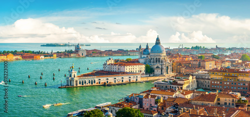 Panoramic aerial view of Venice Fotobehang