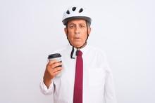 Senior Businessman Wearing Bik...