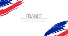 France Flag Brush Style Backgr...