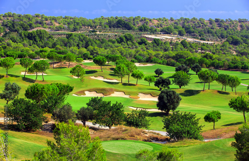 The golf course Las Colinas Golf Country Club on the costa blanca, Spain Canvas Print
