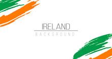 Ireland Flag Brush Style Backg...