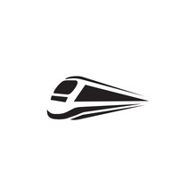 Futuristic Train Logo Design Vector Template