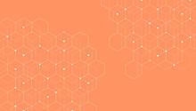 Abstract Hexagonal Molecular S...