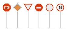 Highway Road Signs. Traffic Ro...