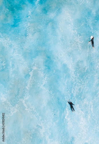 surfing mates Canvas Print