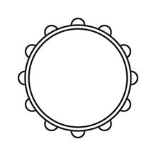 Vector Icon, Tambourine Musica...