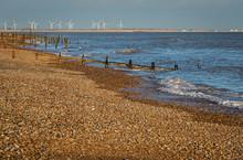 Groynes On Winchelsea Beach At...