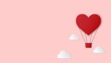 Paper Cut Heart Hot Air Balloo...