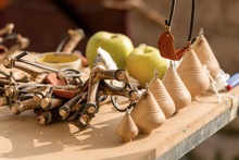 Vintage Wooden Toys - Group Of...
