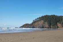 Rock Formation At The Shore Of The Pacific Ocean In Oregon